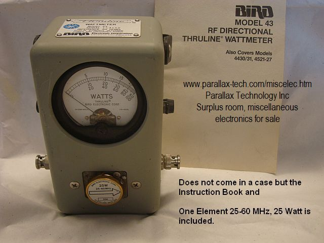 Bird model 43 Wattmeter