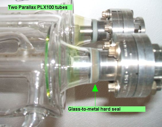 Example of co2 laser tube with Glass-to-Metal       Hard Seal